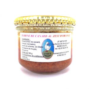 Terrine de canard au zest d'orange - La ferme de Kerdroguen