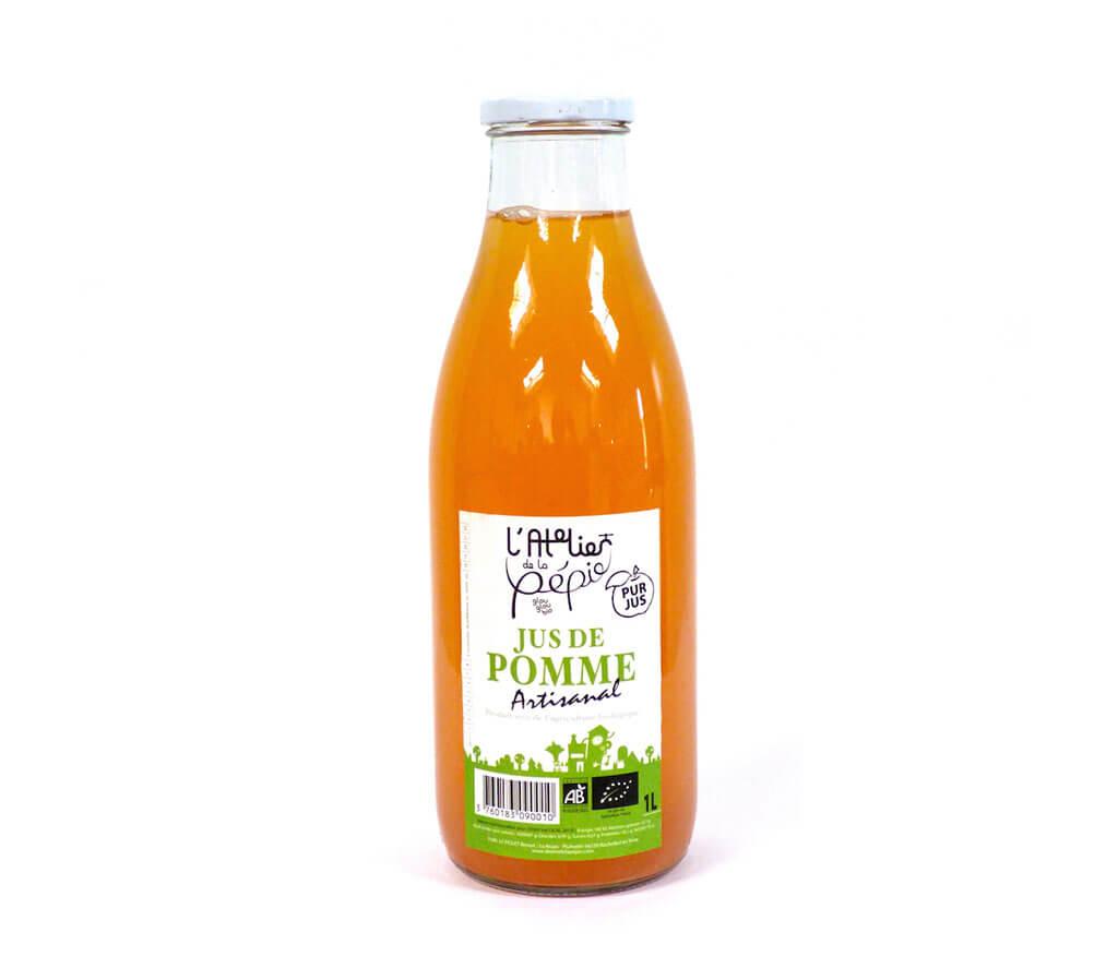 Jus de pomme artisanal bio 1l boisson biologique artisanale sans alcool - Jus de pomme maison sans centrifugeuse ...