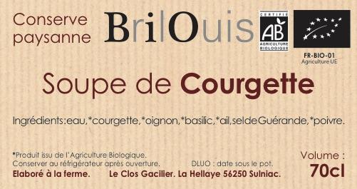 Soupe de courgette bio 70cl Brilouis