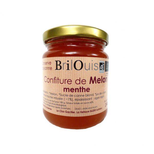 Confiture de melon menthe bio 240g Brilouis