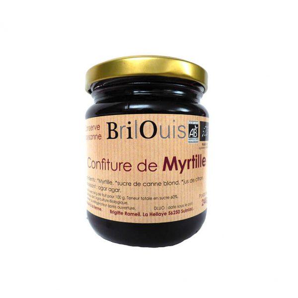 Confiture de myrtille bio 240g Brilouis