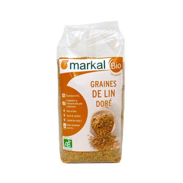 Graines de lin doré bio