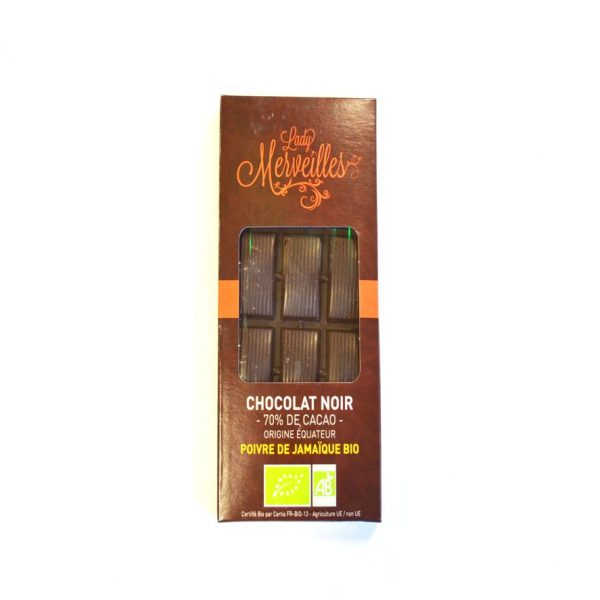Chocolat Noir Poivre de Jamaïque bio