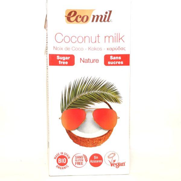 Lait de Noix de Coco bio Nature-Magasin bio Questembert-Halle Terre Native-Certifié AB