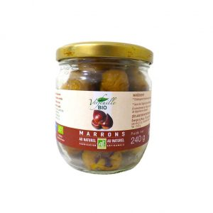 Marrons au naturel bio 240g