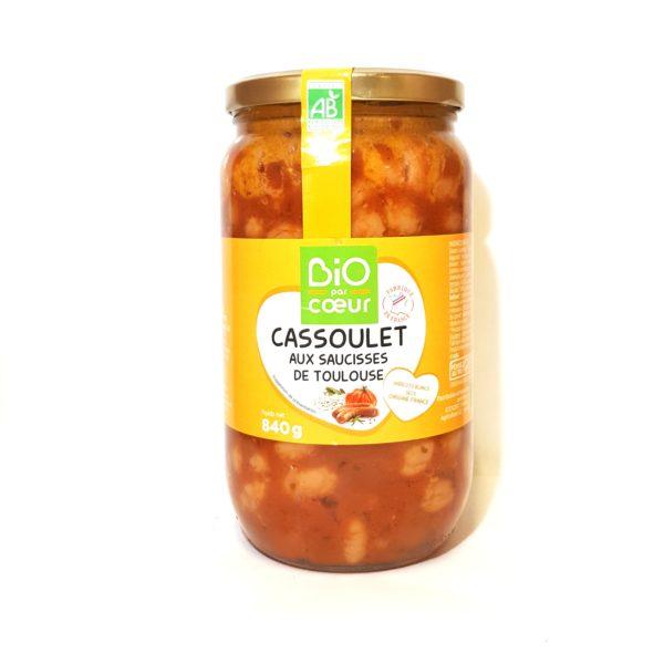 cassoulet aux saucisses de Toulouse bio